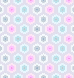 Seamless retro honeycomb pattern-2 vector