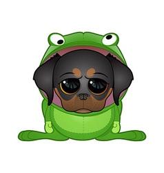frog dog vector image vector image