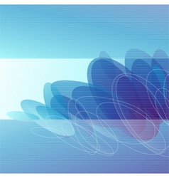 Molecules - Abstract blue background vector image