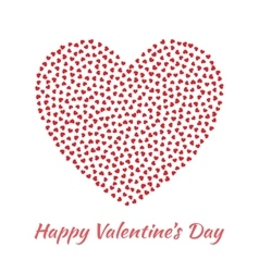 Red Heart Valentines Day Card Background vector image