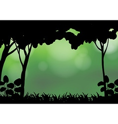 Silhouette forest vector image vector image