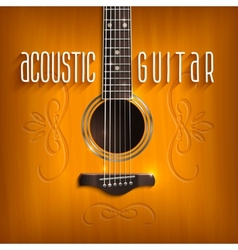 Acoustic Guitar Background vector image vector image