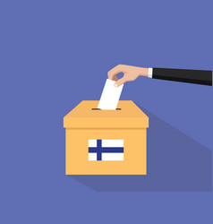 finland election vote concept with vector image vector image