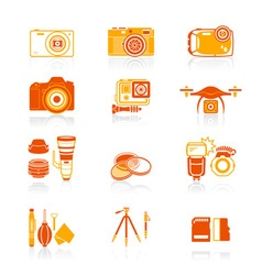Photography set - JUICY series vector image vector image