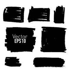 Set of hand drawn paint stains vector image vector image
