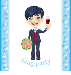 Stag party invitation vector image vector image