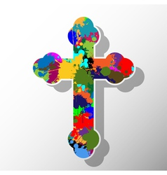 Colorful cross vector image vector image