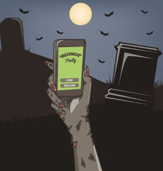 Halloween Party Mobile Invitation vector image vector image
