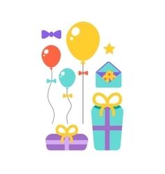 Happy Birthday icons set vector image