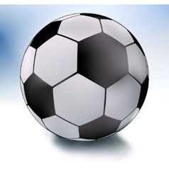 single soccer ball on white and sky eps 8 vector image vector image