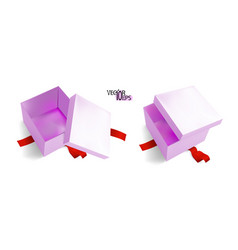 3d isometric realistic colorful pink gift boxes vector