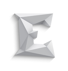 3d letter E on white vector