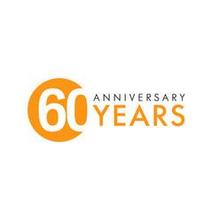60 years logo concept vector