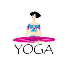a beautiful yogi girl vector image