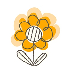 A flower is placed vector
