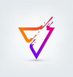Abstract colorful triangle vector