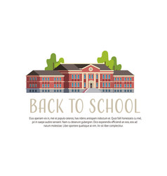 Back to school building yard concept 1 september vector