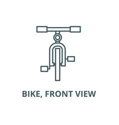 bike front view line icon bike front vector image