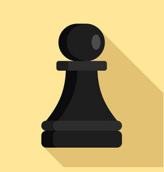 black pawn piece icon flat style vector image
