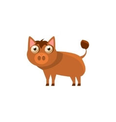 Boar Simplified Cute vector image