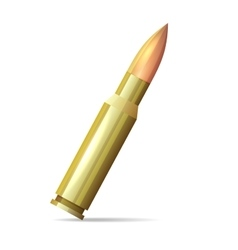 Bullet Realistic Style on White Background vector