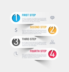 Business steps infographics template vector image