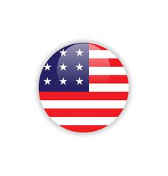 Button usa flag template design vector