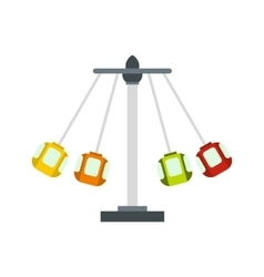 Carnival swing ride icon flat style vector