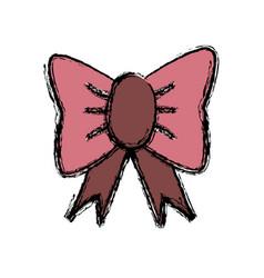 Cartoon bow tie accessory of wedding groom vector
