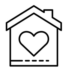 Charity house icon outline style vector