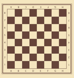 Chess field in beige and brown colors with vector