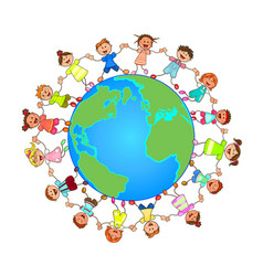 Children around the globe vector