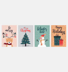 christmas cards design 2 vector image