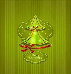 Christmas Tree Creative Post Card vector
