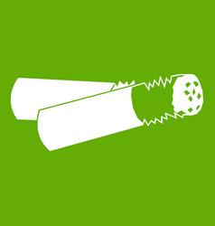 cigarette butt icon green vector image