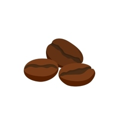 Coffee beans icon cartoon style vector image