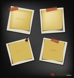 Collection of paper text bubbles vector image