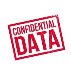 Confidential Data rubber stamp vector