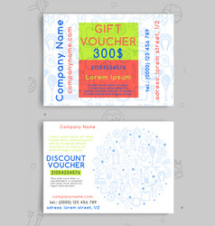 Discount and gift vouchers for a sports shop vector