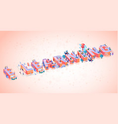 e learning online training media typography banner vector image