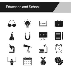 education and school icons design vector image