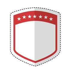 elegant shield frame icon vector image