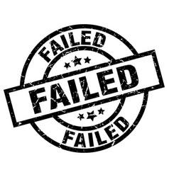Failed round grunge black stamp vector