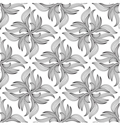 floral seamless patternwhite background vector image