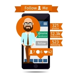 Follow me vector image