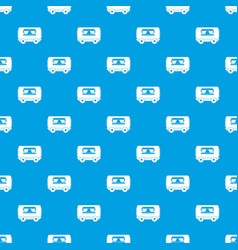 food trailer pattern seamless blue vector image