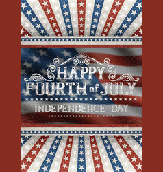fourth july greeting card vector image