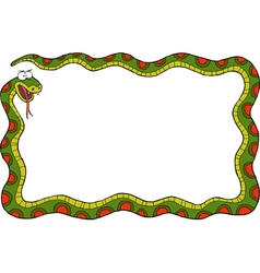 frame with snake vector image