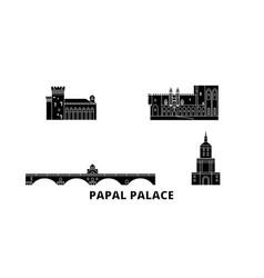 Francepapal palace episcopal ensemble avignon vector