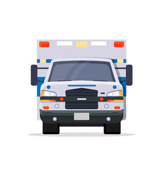 front view of ambulance car vector image